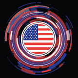 Icono plano de la bandera de los E.E.U.U. Imagen de archivo libre de regalías