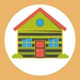Icono plano de la casa Fotos de archivo libres de regalías