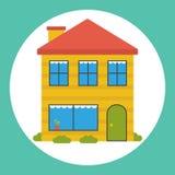 Icono plano de la casa Fotografía de archivo