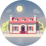Icono plano de la casa del vector libre illustration
