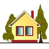 Icono plano de la casa en el fondo blanco ilustración del vector