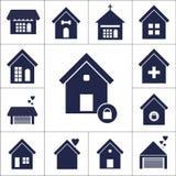 Icono plano de la casa de perro stock de ilustración