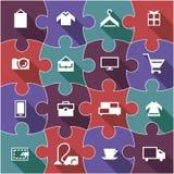 Icono plano de la compra Imagen de archivo
