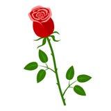 Icono plano de la flor stock de ilustración