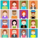 Icono plano de la gente del diseño Imagen de archivo