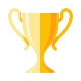 Icono plano de la taza del ganador stock de ilustración