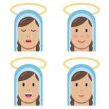 Icono plano de la Virgen María santa libre illustration