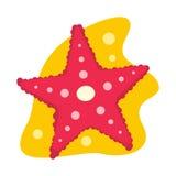 Icono plano de las estrellas de mar Foto de archivo libre de regalías