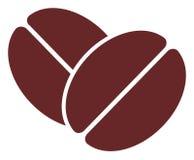 Icono plano de las habas del cacao del vector stock de ilustración