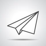 Icono plano de papel linear negro Foto de archivo libre de regalías