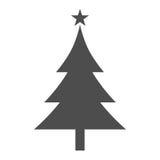 Icono plano del árbol de navidad stock de ilustración