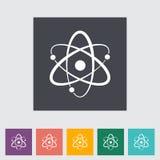 Icono plano del átomo Foto de archivo