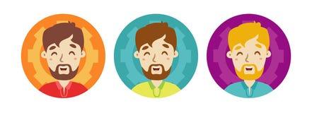 Icono plano del avatar del hombre Fotografía de archivo