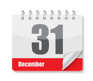 Icono plano del calendario para el vector de los usos Imagen de archivo libre de regalías