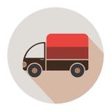 icono plano del camión de la entrega Fotos de archivo libres de regalías