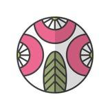 Icono plano del color Baya, logotipo de la fruta vegetarianism Vector Fotografía de archivo