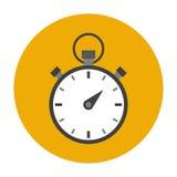Icono plano del cronómetro Fotografía de archivo libre de regalías