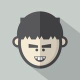 Icono plano del diseño de la cara del solo muchacho libre illustration