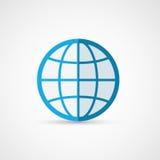 Icono plano del globo geografía ilustración del vector