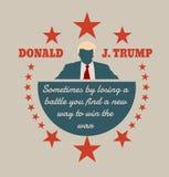 Icono plano del hombre con la cita de Donald Trump Imágenes de archivo libres de regalías