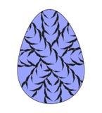 Icono plano del huevo de Pascua adornado con las cuerdas cruzadas de los criss Vector stock de ilustración
