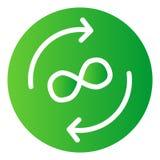 Icono plano del intercambio del infinito Las flechas del círculo colorean iconos en estilo plano de moda Flechas y estilo de la  ilustración del vector