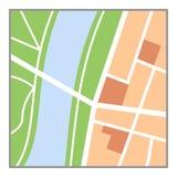 Icono plano del mapa colorido aislado en blanco ilustración del vector