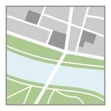 Icono plano del mapa genérico aislado en blanco stock de ilustración