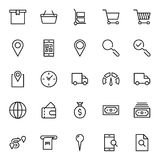 Icono plano del mercado en línea Imagenes de archivo