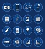 Icono plano del negocio Imagen de archivo libre de regalías