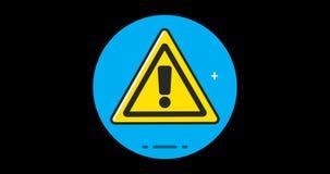 Icono plano del premio de la atención animado con el canal alfa libre illustration