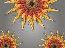 Icono plano del sol del vector Fotos de archivo libres de regalías