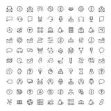 Icono plano del soporte técnico Imágenes de archivo libres de regalías