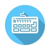 Icono plano del teclado stock de ilustración