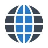 Icono plano del vector del color global del glyph ilustración del vector