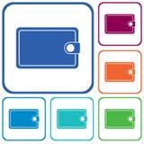 Icono plano del vector de la cartera Imagen de archivo libre de regalías