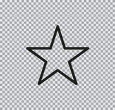 Icono plano del vector de la estrella en fondo transparente imágenes de archivo libres de regalías
