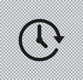 Icono plano del vector de la flecha en fondo transparente fotos de archivo libres de regalías