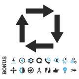 Icono plano del vector de las flechas de la circulación con prima Foto de archivo libre de regalías