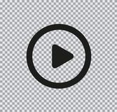 Icono plano del vector del juego en fondo transparente imágenes de archivo libres de regalías