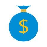 Icono plano del web Bolso del dinero Foto de archivo