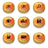 Icono plano en el sistema de elemento 1 Fotografía de archivo libre de regalías