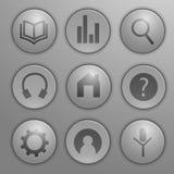 Icono plano en el sistema de elemento 5 Fotos de archivo libres de regalías