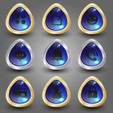 Icono plano en el sistema de elemento 4 Imagen de archivo libre de regalías