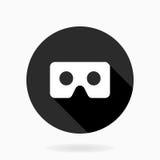 Icono plano fino con el logotipo de VR Foto de archivo libre de regalías