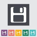 Icono plano magnético del disco blando Fotos de archivo libres de regalías