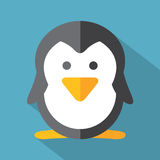 Icono plano moderno del pingüino del diseño Imagen de archivo