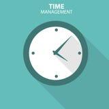 Icono plano moderno del vector de la gestión de tiempo para el web Fotos de archivo libres de regalías