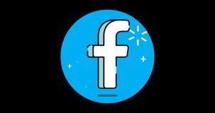 Icono plano superior social animado con el canal alfa ilustración del vector