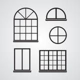 Icono plano tallado de la silueta, diseño simple del vector Sistema de classi ilustración del vector